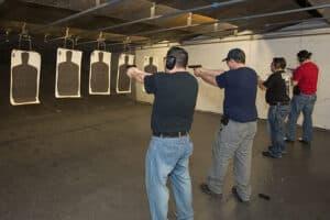 Defensive Pistol Shooting Line